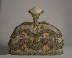 Yellow and silver woven brocaded silk mantua circa 1760 – a perfect miniature at just tall! 18th Century Dress, 18th Century Fashion, Silk Brocade, Doll Costume, Fascinator, Fashion Dolls, Vintage Outfits, Vintage Clothing, Art Pieces