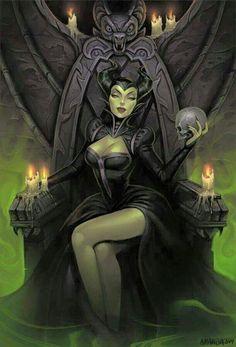Maleficent fan art by Amanda-Kihlstrom Disney Fan Art, Disney Love, Dark Disney Art, Maleficent Art, Malificent, Evil Queens, Fairytale Fantasies, Poses References, Dark Fantasy Art