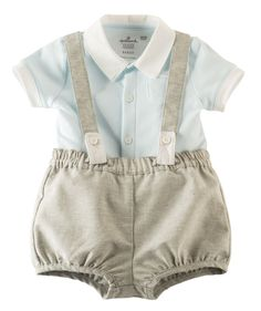 Baby Boy Little Lad Suspender Romper Set   Hallmark Baby Clothes