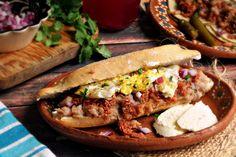 Breakfast Torta (Sandwich) Pozole, Breakfast Items, Breakfast Recipes, Mexican Breakfast, Pan Dulce, Tamales, Puerto Rico, Mexican Sandwich, Torta Recipe