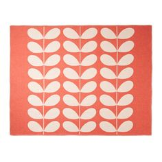 Orla Kiely | UK | house | Living | Giant Stem Throw (0THRGST676) | red &…