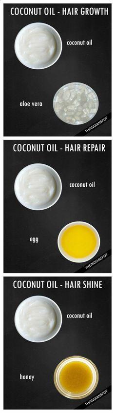 Hair care. Coconut oil