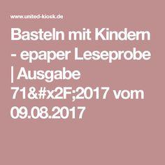 Basteln mit Kindern - epaper Leseprobe   Ausgabe 71/2017 vom 09.08.2017