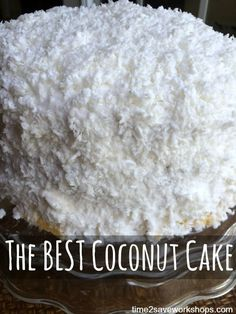 The Best Coconut Cake recipe. My grandmother's homemade Coconut Cake is the ve. - The Best Coconut Cake recipe. My grandmother's homemade Coconut Cake is the very best coconut cak - Homemade Coconut Cake Recipe, Coconut Recipes, Homemade Cakes, Coconut Desserts, Best Coconut Cake Recipe Ever, Homemade Breads, Cake Icing, Cupcake Cakes, Coconut Cake Frosting