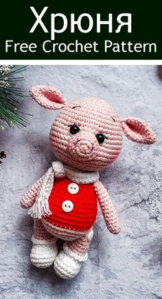 Cool Amigurumi Projects You Should Be Crocheting Right Now - Page 22 of 24 - apronbasket . Crochet Pig, Crochet Amigurumi Free Patterns, Crochet Animals, Crochet Dolls, Knitted Stuffed Animals, Crochet Headband Pattern, Stuffed Toys Patterns, Amigurumi Doll, Crochet Projects