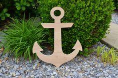 20 Inch Wooden Anchor // Anchor Decor // Nautical Decor //