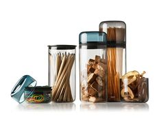 These are some of the nicest storage jars that I've ever seen. Each glass container has a flexible silicone collar that ensures an air-tight seal. While they're intended for functional kitchen storage, you could easily use them wherever you need a container, say, for organizing desk items or jewelry.