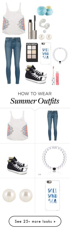"""School/Summer outfit"" by katiecarroll1234 on Polyvore featuring Frame Denim, Billabong, Converse, Sonia Kashuk, Casetify, Ilia, Henri Bendel, Illamasqua, Topshop and Eos"