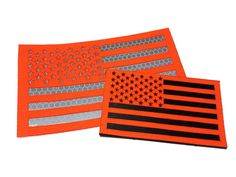 HUNTER Orange Reflective US flag patches! WWW,.EMPIRETACTICAL.ORG
