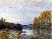 Soleil Couchant, or Autumn Evening on the River, 1895 - Alfred Sisley - www.alfredsisley.org