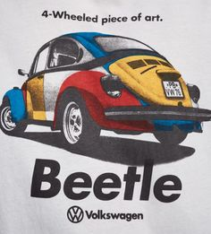 4 Wheeled Piece of Art Beetle T-Shirt by Pull&Bear 6 Culture Meaning, Porsche, Audi, Vintage Cars, Art Pieces, Advertising, Volkswagen Beetles, Branding, Vw Bugs