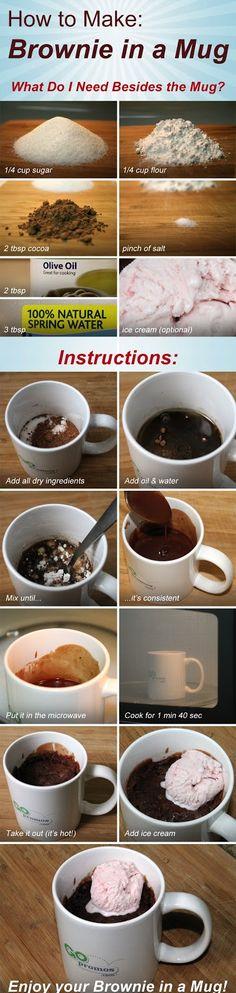 Brownie in a Mug | She's Crafty