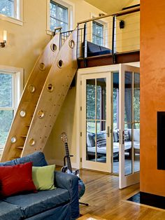 Stairs To Loft Design, Pictures, Remodel, Decor and Ideas