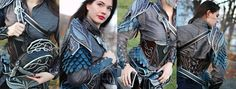 "offense-is-the-best-defence: "" Female Elven Leather Armor set by Feral-Workshop """