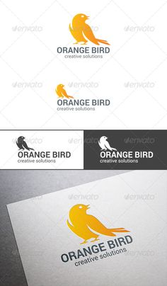 Sitting Bird Sparrow Logo abstract — Photoshop PSD #emblem #creative • Available here → https://graphicriver.net/item/sitting-bird-sparrow-logo-abstract/7711296?ref=pxcr