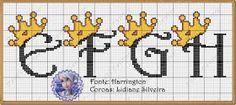 Dinha Ponto Cruz: Monogramas Princesas e Príncipes!