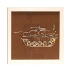 Tank wire art Framed wall art Wall wire art Unique by GaliConcept