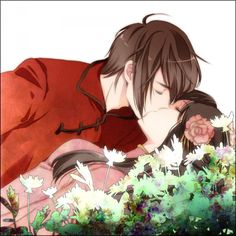 Hetalia, and this is Hong Kong and Taiwan, I think it's a cute picture :)
