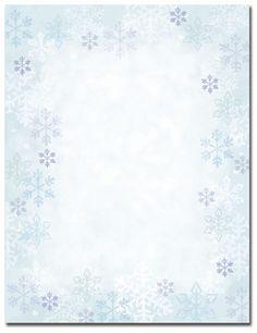 Snowy Flakes Letterhead | Christmas | Pinterest | Christmas ...