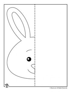Draw a Bunny Art Worksheet - Kids Activities Finish The Drawing Worksheets, Art Worksheets, Preschool Worksheets, Preschool Activities, Symmetry Activities, Kids Activities At Home, Library Activities, Visual Perception Activities, Drawing Lessons For Kids