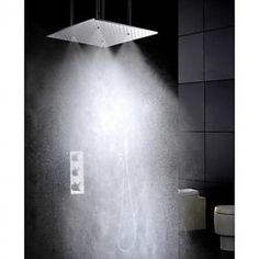Shower Tap Contemporary Thermostatic / Rain Shower / Handshower Included Brass Chrome