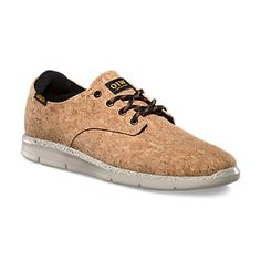 Prelow Cork Lace Sneakers by Vans. Love that it is environmentally friendly, looks great and contributed to forest biodiversity.