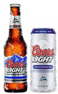 """Coors Light is a light beer produced by the Coors Brewing Company. It was first produced in beer has a """"Cold Certified"""" label which turns the mountains on the label from white to blue when the beer's temperature is lowered to 4 degrees Celsius Most Popular Beers, Coors Light, Light Beer, Beer Types, Beer Online, American Beer, Beers Of The World, Beer Brands, How To Make Beer"""