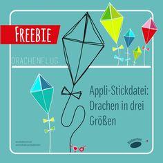"Stickdatei ""Drachenflug"""