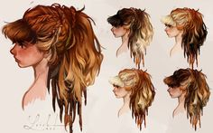 Loish: More concept art of Aloy, the lead character of Horizon: Zero Dawn. I worked on this character together with the rest of the character team for a few months in 2013. It was a huge honor working wit...