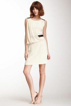 C. Luce Draped Front Dress