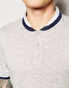 ASOS Polo Shirt With Shawl Collar And Tipping