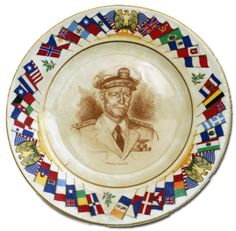 Nimitz plate from the collection of The National WWII Museum