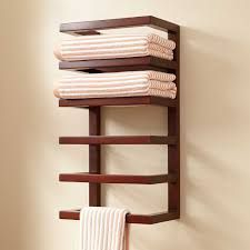 Image result for mounted wooden towel rack