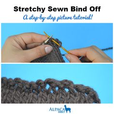 A Stretchy Sewn Bind Off from the Alpaca Direct blog!  Perfect edge for hats, socks, necklines...ANYTHING!