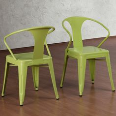 Limeade Tabouret Stacking Chairs (Set of 4) | Overstock.com Shopping - The Best Deals on Dining Chairs