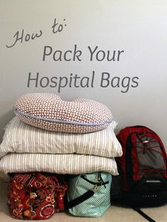 What to pack in your hospital bags. Divided up by what you need for labor & delivery and postpartum.