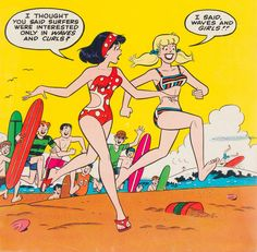 The Best Comic Book Panels — Betty and Veronica Giant-Size Summer Fun Special. Archie Comic Books, Best Comic Books, Old Comics, Vintage Comics, Archie Betty And Veronica, Archie Comics Riverdale, Dan Decarlo, Comic Book Panels, Ligne Claire