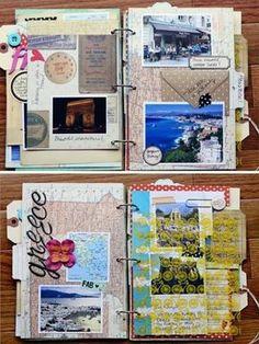 come-fare-un-diario-di-viaggio-idee-decorazione-pagine-foto-collage-cartoline-francobolli-scritte-cartina-geografica