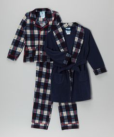 Love this Navy Classic Kid Robe Set - Infant, Toddler & Boys on #zulily! #zulilyfinds