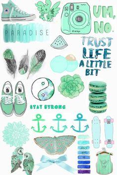 Tumblr transparent mint my favorite color♥♥♥♥♥♥♥