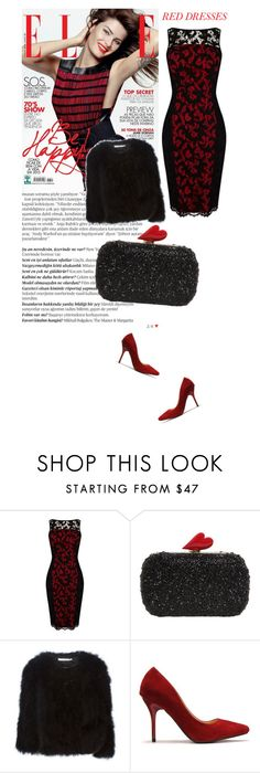 """""""Red Dress"""" by aysebt ❤ liked on Polyvore featuring Balmain, Karen Millen, Diane Von Furstenberg, Givenchy, women's clothing, women, female, woman, misses and juniors"""