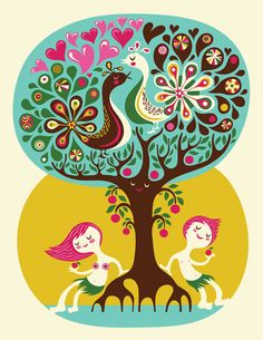 Love Tree by Helen Dardik. #illustrations #GraphicArt #CrudeArea