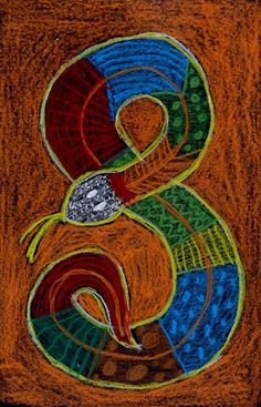 My Aboriginal snake drawing was inspired from Australia, where there are Aborigines who live today as they did thousands of years ago. Aboriginal Art For Kids, Snake Drawing, Snake Art, Aboriginal Art, Snake Crafts, Art Drawings, Art Show, Arts And Crafts Projects, Art