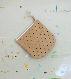 Leather Polka Dot Pouch