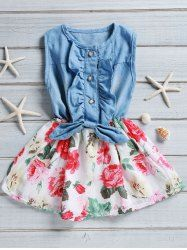 SHARE & Get it FREE | Sweet Sleeveless Flounced Floral Print Girl's Denim DressFor Fashion Lovers only:80,000+ Items • New Arrivals Daily • Affordable Casual to Chic for Every Occasion Join Sammydress: Get YOUR $50 NOW!