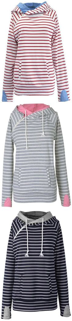 Hot sale at $19.99 with Free Shipping& Easy Returns! This casually cute sweatshirt is perfect for the fall transition.It has double fabric hood & Irregular zipper at front. Plus, the fabric is super soft and comfy! Pick up more at Cupshe.com !