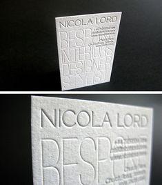 Letterpress Business Card for Interior Designer | Business Cards | The Design Inspiration