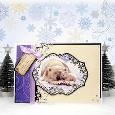 White Christmas by Hunkydory Crafts. Card made using 'Snuggle in the Snow' topper set. Part of the 2014 Christmas Craftinator Collection