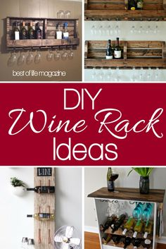 A DIY wine rack will help you showcase your wine in a unique way that only you can imagine and is one of the essential ideas for wine lovers. Cooking Wine Recipes, Drink Recipes, Wine Gift Boxes, Wine Sale, Wine Craft, Wine Baskets, Beer Fest, Wine Storage, Storage Ideas
