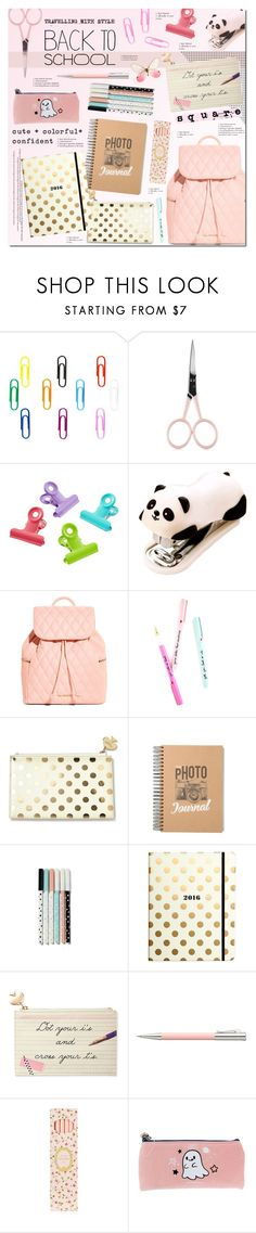 """School Style"" by justlovedesign ❤ liked on Polyvore featuring interior, interiors, interior design, home, home decor, interior decorating, Anastasia Beverly Hills, Vera Bradley, Kate Spade and Faber-Castell"